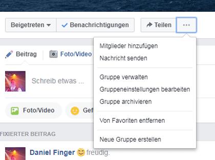 Facebookgruppe gründen - Screenshot Gruppeneinstellung