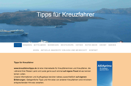 Surftipp: kreuzfahrertipps.de - Landausflüge auf eigene Faust
