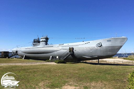 Bilck auf das U-Boot in Laboe